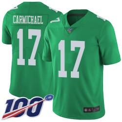 Limited Men's Harold Carmichael Green Jersey - #17 Football Philadelphia Eagles 100th Season Rush Vapor Untouchable