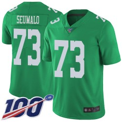 Limited Men's Isaac Seumalo Green Jersey - #73 Football Philadelphia Eagles 100th Season Rush Vapor Untouchable