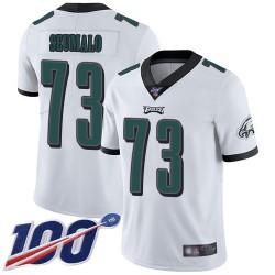 Limited Men's Isaac Seumalo White Road Jersey - #73 Football Philadelphia Eagles 100th Season Vapor Untouchable