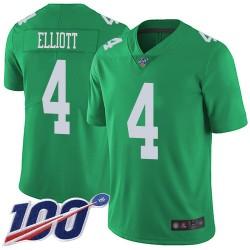 Limited Men's Jake Elliott Green Jersey - #4 Football Philadelphia Eagles 100th Season Rush Vapor Untouchable