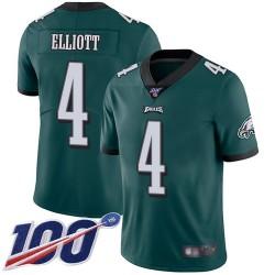 Limited Men's Jake Elliott Midnight Green Home Jersey - #4 Football Philadelphia Eagles 100th Season Vapor Untouchable