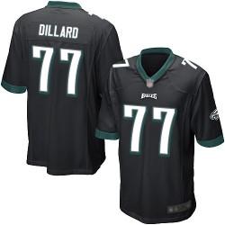 Game Men's Andre Dillard Black Alternate Jersey - #77 Football Philadelphia Eagles