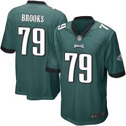 Game Men's Brandon Brooks Midnight Green Home Jersey - #79 Football Philadelphia Eagles