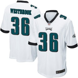 Game Men's Brian Westbrook White Road Jersey - #36 Football Philadelphia Eagles