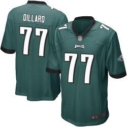 Game Men's Andre Dillard Midnight Green Home Jersey - #77 Football Philadelphia Eagles