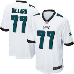 Game Men's Andre Dillard White Road Jersey - #77 Football Philadelphia Eagles