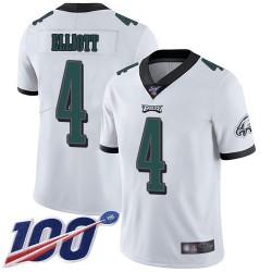 Limited Men's Jake Elliott White Road Jersey - #4 Football Philadelphia Eagles 100th Season Vapor Untouchable