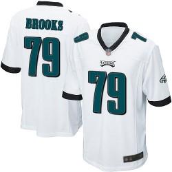 Game Men's Brandon Brooks White Road Jersey - #79 Football Philadelphia Eagles