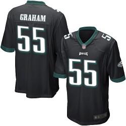 Game Men's Brandon Graham Black Alternate Jersey - #55 Football Philadelphia Eagles