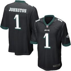 Game Men's Cameron Johnston Black Alternate Jersey - #1 Football Philadelphia Eagles