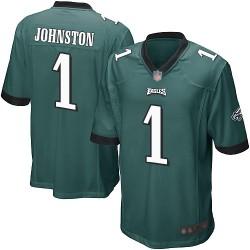 Game Men's Cameron Johnston Midnight Green Home Jersey - #1 Football Philadelphia Eagles