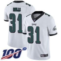 Limited Men's Jalen Mills White Road Jersey - #31 Football Philadelphia Eagles 100th Season Vapor Untouchable