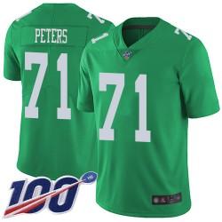 Limited Men's Jason Peters Green Jersey - #71 Football Philadelphia Eagles 100th Season Rush Vapor Untouchable