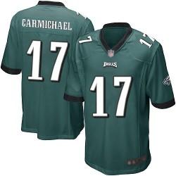 Game Men's Harold Carmichael Midnight Green Home Jersey - #17 Football Philadelphia Eagles