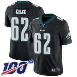 Limited Men's Jason Kelce Black Alternate Jersey - #62 Football Philadelphia Eagles 100th Season Vapor Untouchable