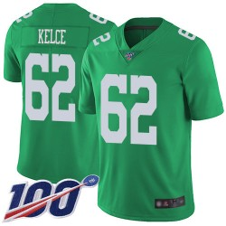 Limited Men's Jason Kelce Green Jersey - #62 Football Philadelphia Eagles 100th Season Rush Vapor Untouchable
