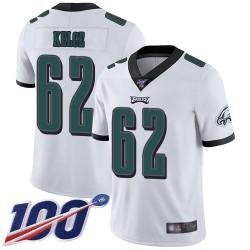 Limited Men's Jason Kelce White Road Jersey - #62 Football Philadelphia Eagles 100th Season Vapor Untouchable