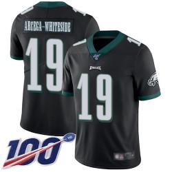 Limited Men's JJ Arcega-Whiteside Black Alternate Jersey - #19 Football Philadelphia Eagles 100th Season Vapor Untouchable
