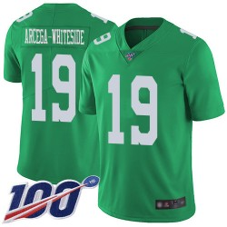 Limited Men's JJ Arcega-Whiteside Green Jersey - #19 Football Philadelphia Eagles 100th Season Rush Vapor Untouchable