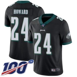 Limited Men's Jordan Howard Black Alternate Jersey - #24 Football Philadelphia Eagles 100th Season Vapor Untouchable