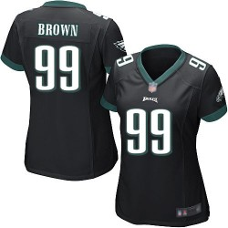 Game Women's Jerome Brown Black Alternate Jersey - #99 Football Philadelphia Eagles