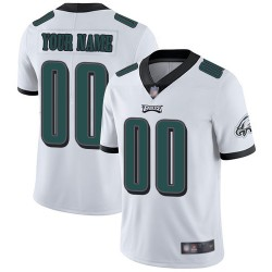 Limited Youth White Road Jersey - Football Customized Philadelphia Eagles Vapor Untouchable
