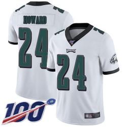 Limited Men's Jordan Howard White Road Jersey - #24 Football Philadelphia Eagles 100th Season Vapor Untouchable