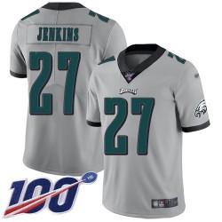 Limited Men's Malcolm Jenkins Silver Jersey - #27 Football Philadelphia Eagles 100th Season Inverted Legend