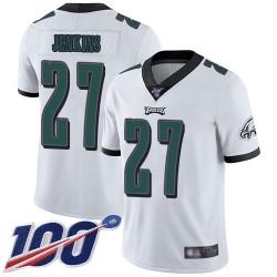 Limited Men's Malcolm Jenkins White Road Jersey - #27 Football Philadelphia Eagles 100th Season Vapor Untouchable