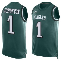 Limited Men's Cameron Johnston Midnight Green Jersey - #1 Football Philadelphia Eagles Player Name & Number Tank Top