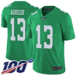 Limited Men's Nelson Agholor Green Jersey - #13 Football Philadelphia Eagles 100th Season Rush Vapor Untouchable