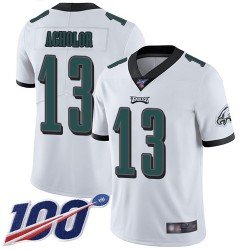 Limited Men's Nelson Agholor White Road Jersey - #13 Football Philadelphia Eagles 100th Season Vapor Untouchable