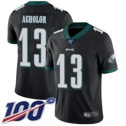 Limited Men's Nelson Agholor Black Alternate Jersey - #13 Football Philadelphia Eagles 100th Season Vapor Untouchable