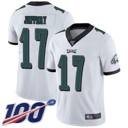 Limited Men's Alshon Jeffery White Road Jersey - #17 Football Philadelphia Eagles 100th Season Vapor Untouchable