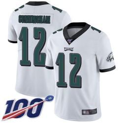 Limited Men's Randall Cunningham White Road Jersey - #12 Football Philadelphia Eagles 100th Season Vapor Untouchable