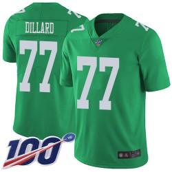 Limited Men's Andre Dillard Green Jersey - #77 Football Philadelphia Eagles 100th Season Rush Vapor Untouchable