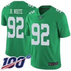 Limited Men's Reggie White Green Jersey - #92 Football Philadelphia Eagles 100th Season Rush Vapor Untouchable