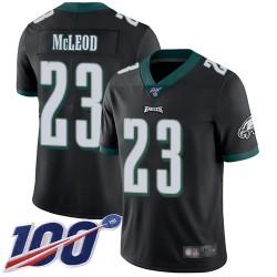 Limited Men's Rodney McLeod Black Alternate Jersey - #23 Football Philadelphia Eagles 100th Season Vapor Untouchable