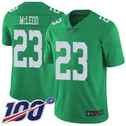 Limited Men's Rodney McLeod Green Jersey - #23 Football Philadelphia Eagles 100th Season Rush Vapor Untouchable