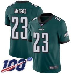 Limited Men's Rodney McLeod Midnight Green Home Jersey - #23 Football Philadelphia Eagles 100th Season Vapor Untouchable