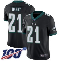 Limited Men's Ronald Darby Black Alternate Jersey - #21 Football Philadelphia Eagles 100th Season Vapor Untouchable