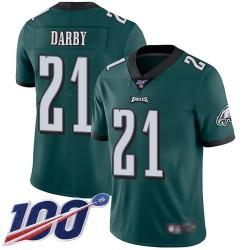 Limited Men's Ronald Darby Midnight Green Home Jersey - #21 Football Philadelphia Eagles 100th Season Vapor Untouchable
