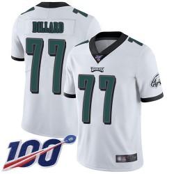 Limited Men's Andre Dillard White Road Jersey - #77 Football Philadelphia Eagles 100th Season Vapor Untouchable