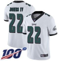 Limited Men's Sidney Jones White Road Jersey - #22 Football Philadelphia Eagles 100th Season Vapor Untouchable