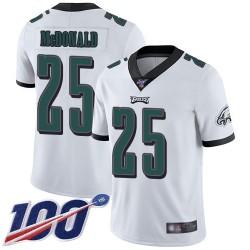 Limited Men's Tommy McDonald White Road Jersey - #25 Football Philadelphia Eagles 100th Season Vapor Untouchable