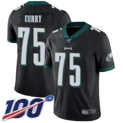 Limited Men's Vinny Curry Black Alternate Jersey - #75 Football Philadelphia Eagles 100th Season Vapor Untouchable