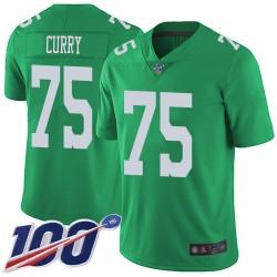 Limited Men's Vinny Curry Green Jersey - #75 Football Philadelphia Eagles 100th Season Rush Vapor Untouchable