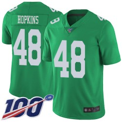 Limited Men's Wes Hopkins Green Jersey - #48 Football Philadelphia Eagles 100th Season Rush Vapor Untouchable