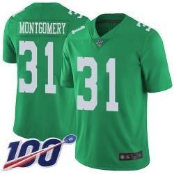 Limited Men's Wilbert Montgomery Green Jersey - #31 Football Philadelphia Eagles 100th Season Rush Vapor Untouchable