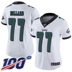 Limited Women's Andre Dillard White Road Jersey - #77 Football Philadelphia Eagles 100th Season Vapor Untouchable